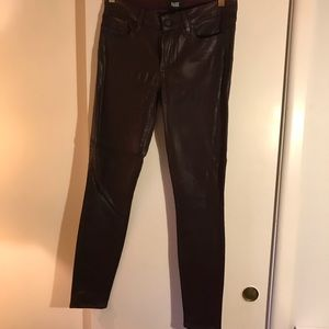 Paige Denim Coated Wine Jeans